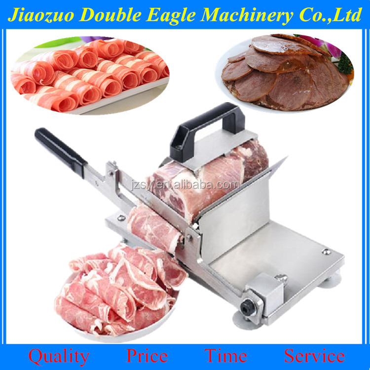 small restaurant special use frozen meat roll cutting machine/stainless steel Quick-frozen Lamb Rolls and vegetable cutting tool