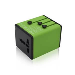 Universal Travel Adapter with 2 USB Outlets US UK EU and AU outlets Global Foreign Worldwide Plug Adapter