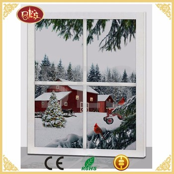 BES Winter Village Snow LED Canvas Panel 16x20