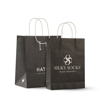Eco-friendly brown and white kraft paper bag, paper shopping bag,packaging bag
