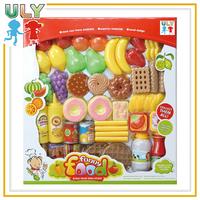 Plastic Pretend Play Toy Food Set
