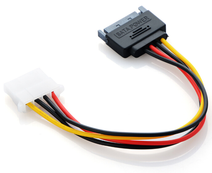 SATA Power Cord Connector SATA to IDE Power Cable Serial Power Cord Sata Line Reverse Line 15pin Male to Big 4pin P15 фото