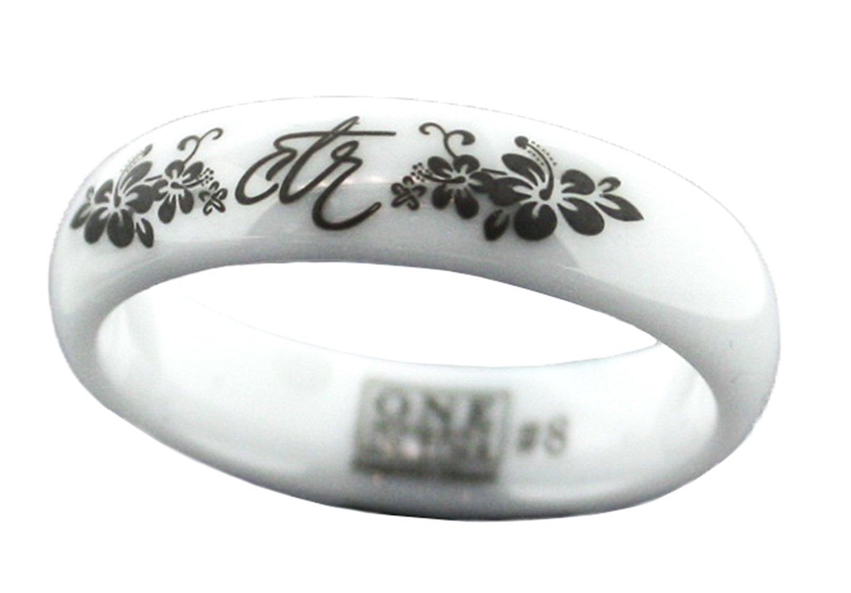 """Heavenly Flower"" - White Diamond Ceramic - CTR Ring - Choose The Right - J128 - One Moment In Time"
