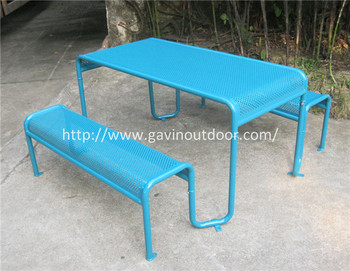 Antique metal picnic table and benches indoor and outdoor buy antique metal picnic table and benches indoor and outdoor watchthetrailerfo