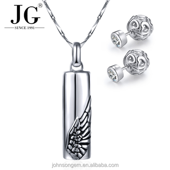 Fashion mens manly necklace pendant simple angel wing design silver fashion mens manly necklace pendant simple angel wing design silver necklace and earrings sets for men aloadofball Choice Image