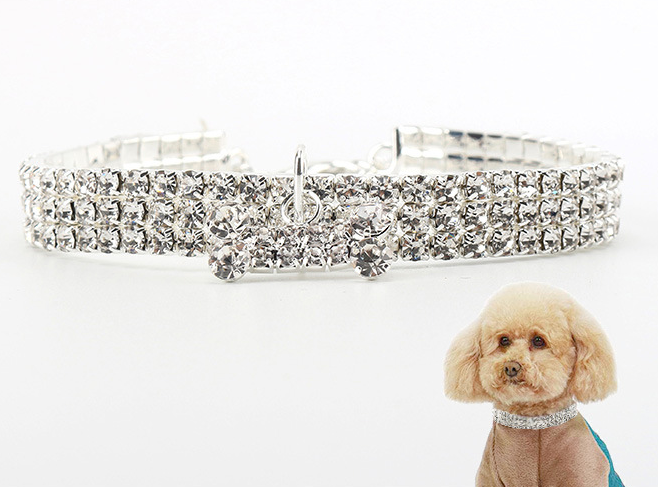 NUOVO Forniture Collare di Cane Dell'animale Domestico Alla Moda Brillante Strass Collari per Cani