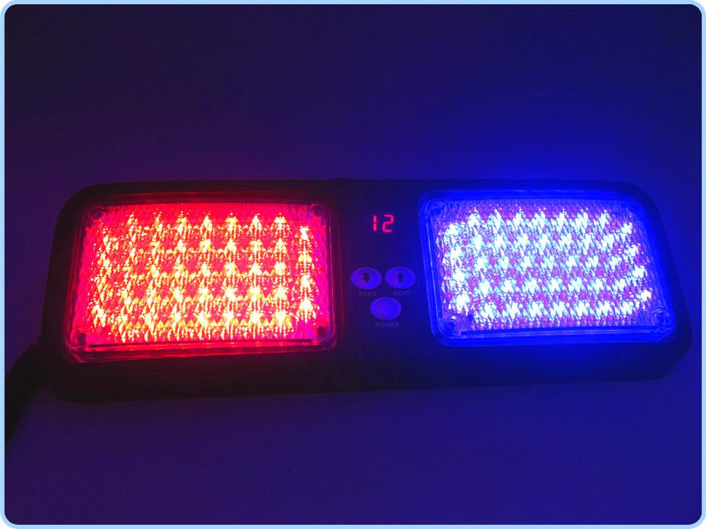 car emergency 86 led strobe light visor led light visor strobe flashing lamp auto blue red. Black Bedroom Furniture Sets. Home Design Ideas