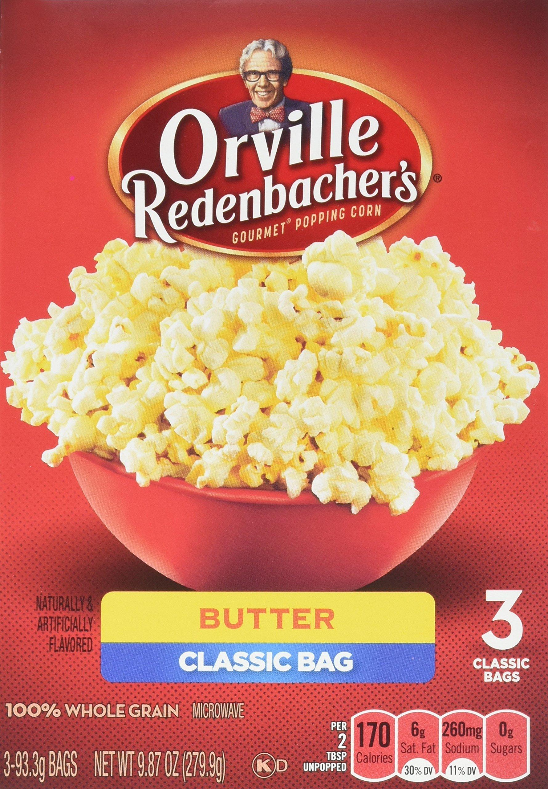 Orville Redenbacher's 3 Classic Bag Microwave Popcorn, Butter, 3.3 Ounce