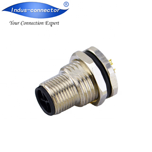 Optische connector gelijk bindmiddel m12 s code connector met hoge spanning 4pin power connector kabel