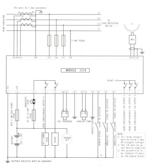 diesel generator control module 5110c dse5110 parameter. Black Bedroom Furniture Sets. Home Design Ideas