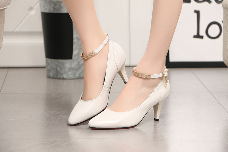 Factory Directly White Shoes Bridal Las Office Wear