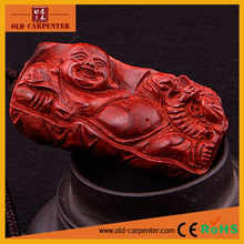 Hig quality wooden carving ornament Buddha for Plenty of Blessing small wood craft