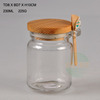 High quality glass mason jar with wood lid and spoon