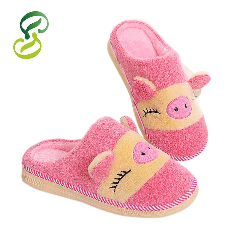Get Quotations · Plus Size Fashion Winter pantufa Men Women shoes Home  slippers Plush slipper long flush Lovely Cartoon