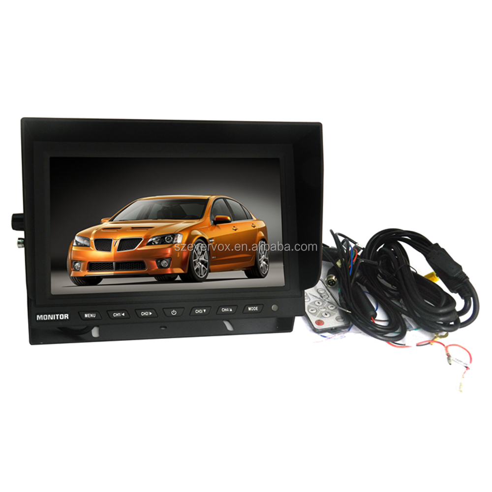 9inch TFT panel Quad Monitor (With Sun shield)