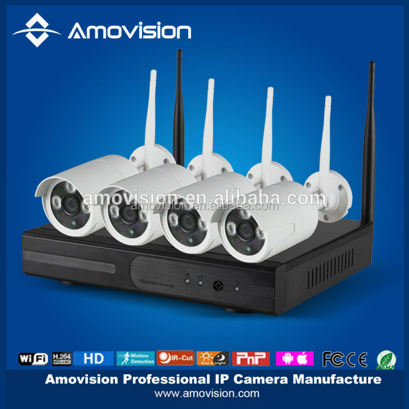 2015 hot sale ! WNK402 720P 4CH NVR 1.0 megapixel CCTV Camera system Network ip camera kits