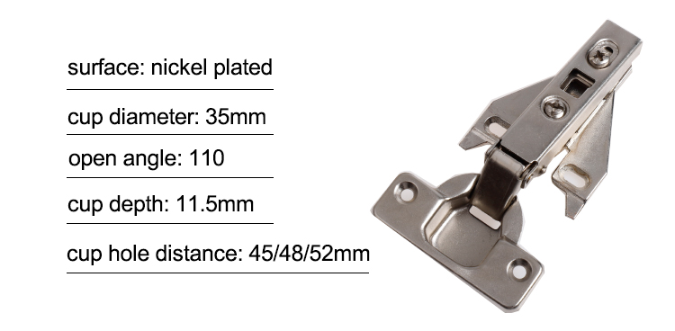 Furniture concealed clip on america door hinges