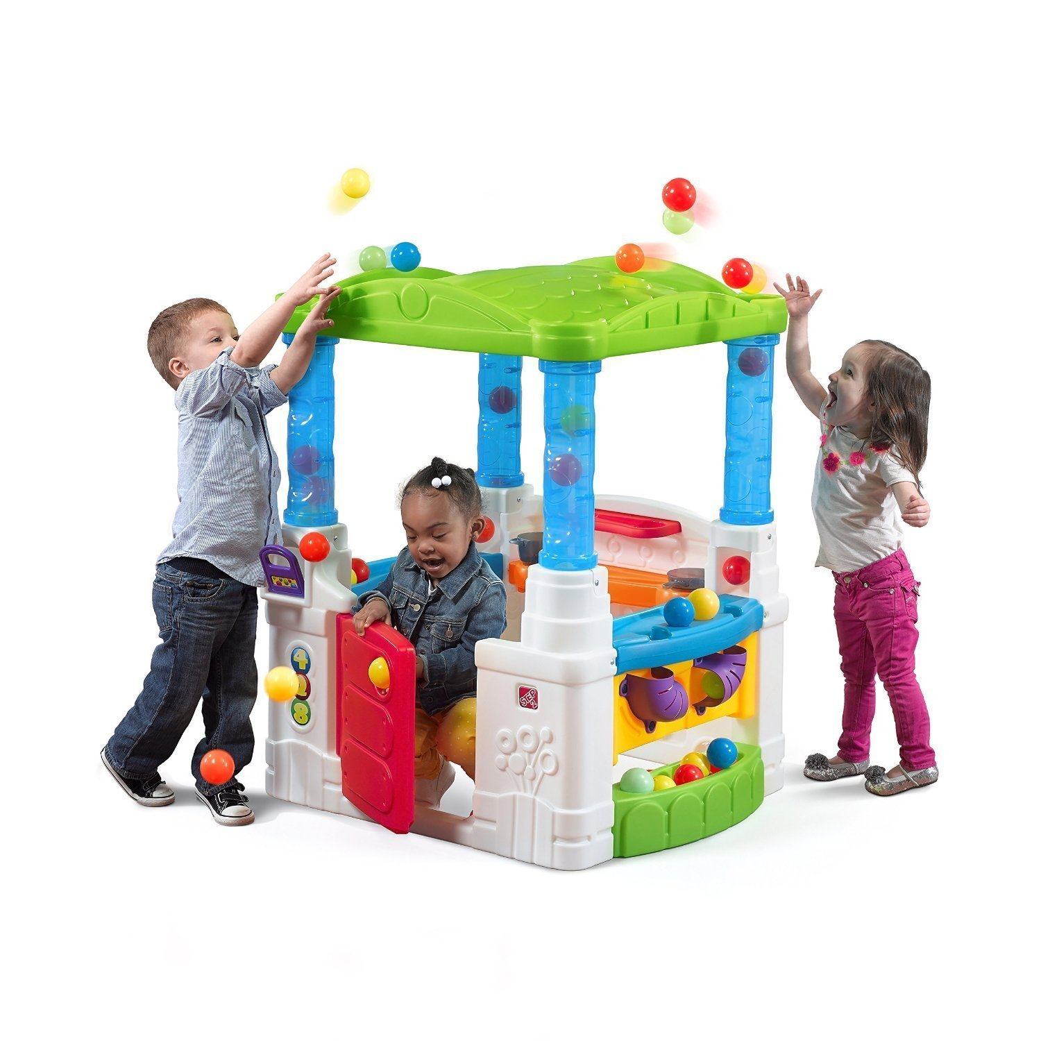 Best Selling Fun Indoor Outdoor Kids Toddlers Playhouse Activity Learning Center With Bright Colors And Balls- Great Fun Year-Round- Sharpens Learning Curve and Motor Skills- Fun For All Kids