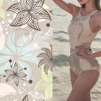 Textile printing swimsuit material polyester uv swimwear fabric