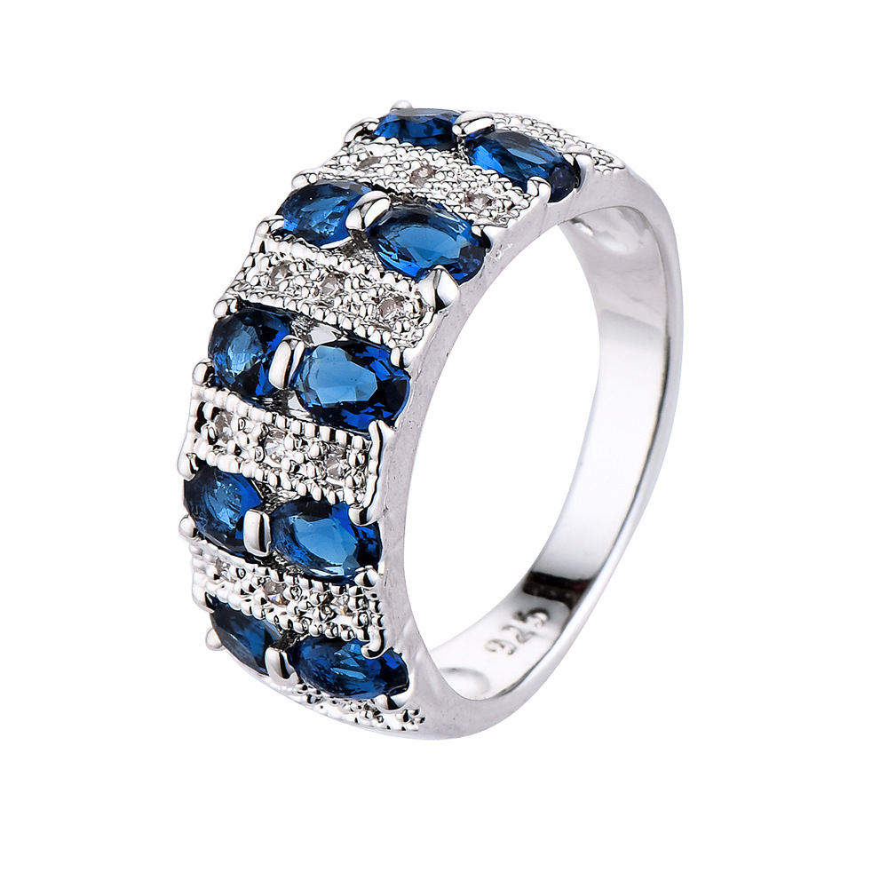 Joacii Hot Selling Wedding Ring Design CZ Zircon 925 Silver Sterling Ring