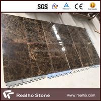 First Quality Spanish Dark Emperador Marble Tiles for Interior Decoration