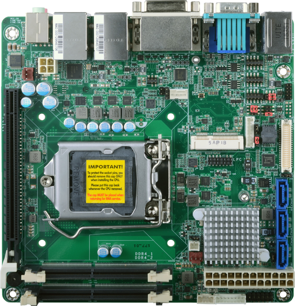 6th Generation LGA 1151 Socket motherboard with ddr4 motherboard, integrated processor