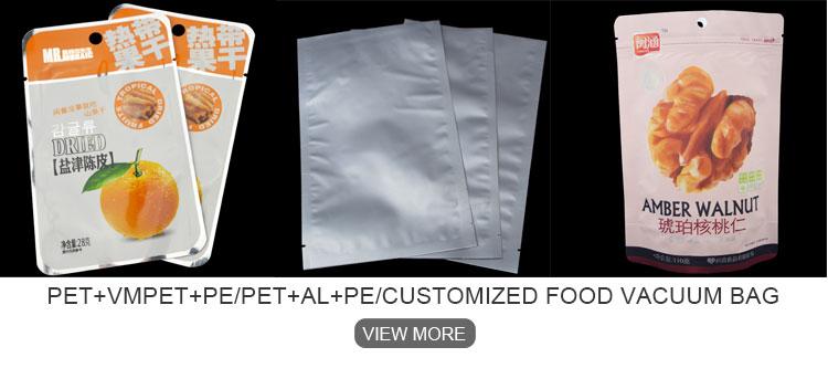 Saco de plástico de fundo redondo, Polybags PEBD para embalagem de peixe, pe saco de plástico
