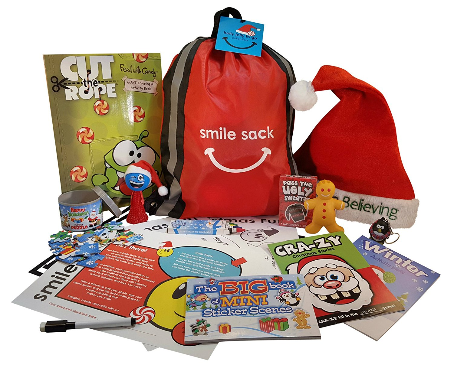 christmas bag packed with travel friendly games - Christmas Games For Toddlers