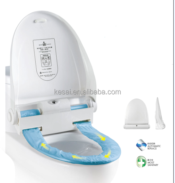 Hygienic Disposable Toilet Seat Cover Auto Replacement