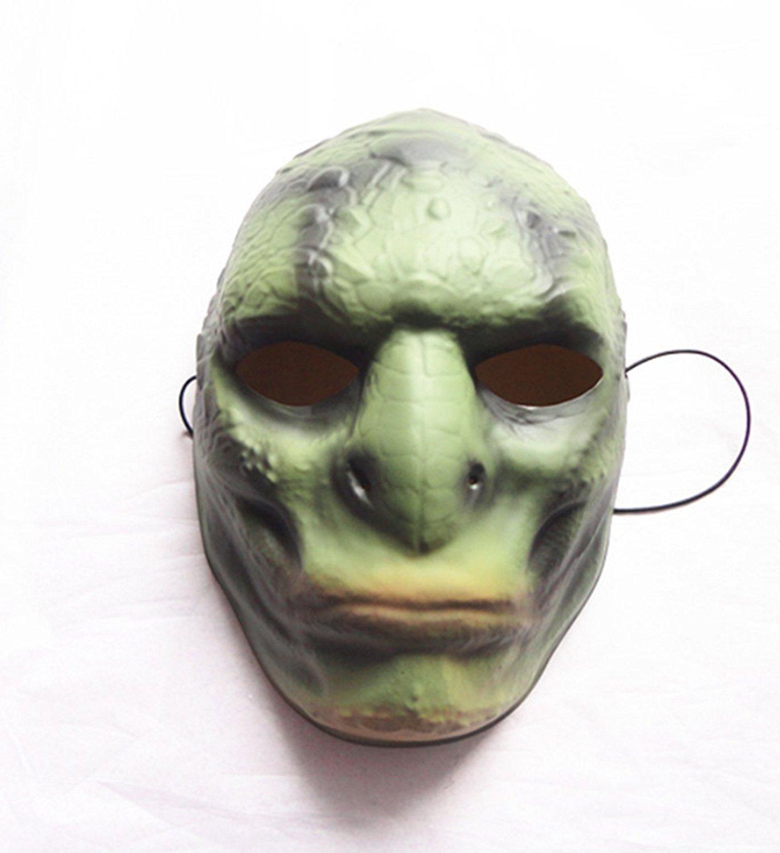 micrkrowen Halloween party cosplay mask Green Monster Guijie BOSS plastic props