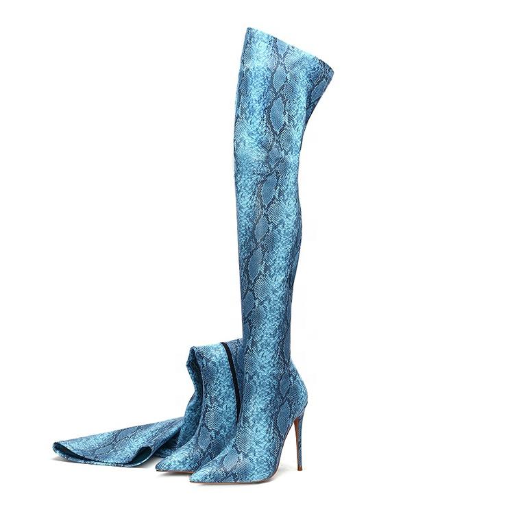 Sexy stiletto frau oberschenkel hohe ferse boot für damen