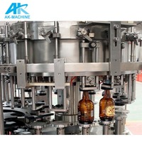 2000BPH automatic Glass Bottle filling and capping machine beer bottling and capping machine / filling beer machine