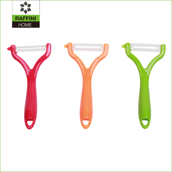 colored Y-shaped ceramic peeler