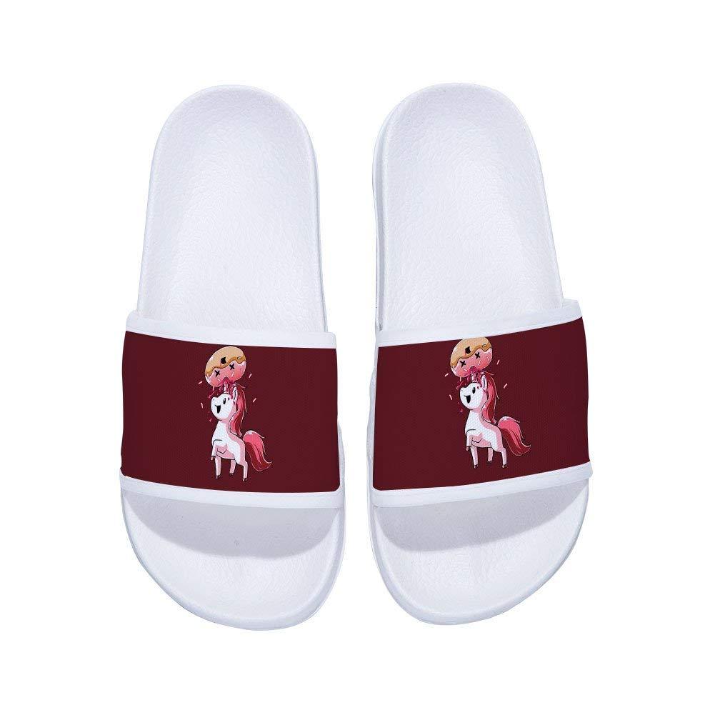 MingDe Sports Boys Girls Unicorn Slide Sandals Non-Slip Swimming Shower Bathroom Slippers with Starry Sky