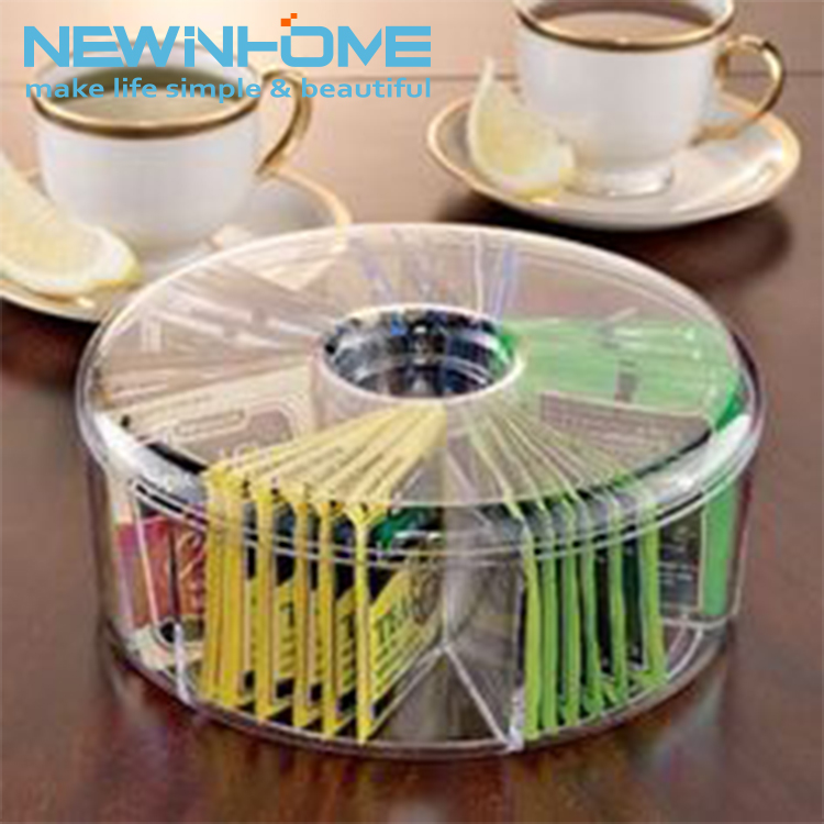 Wholesale Clear Acrylic Tea Bag Storage Box Plastic Tea Bag Holder