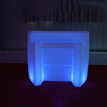 Colourful outdoor Furniture General Use LED counter Illuminated garden bar club party table