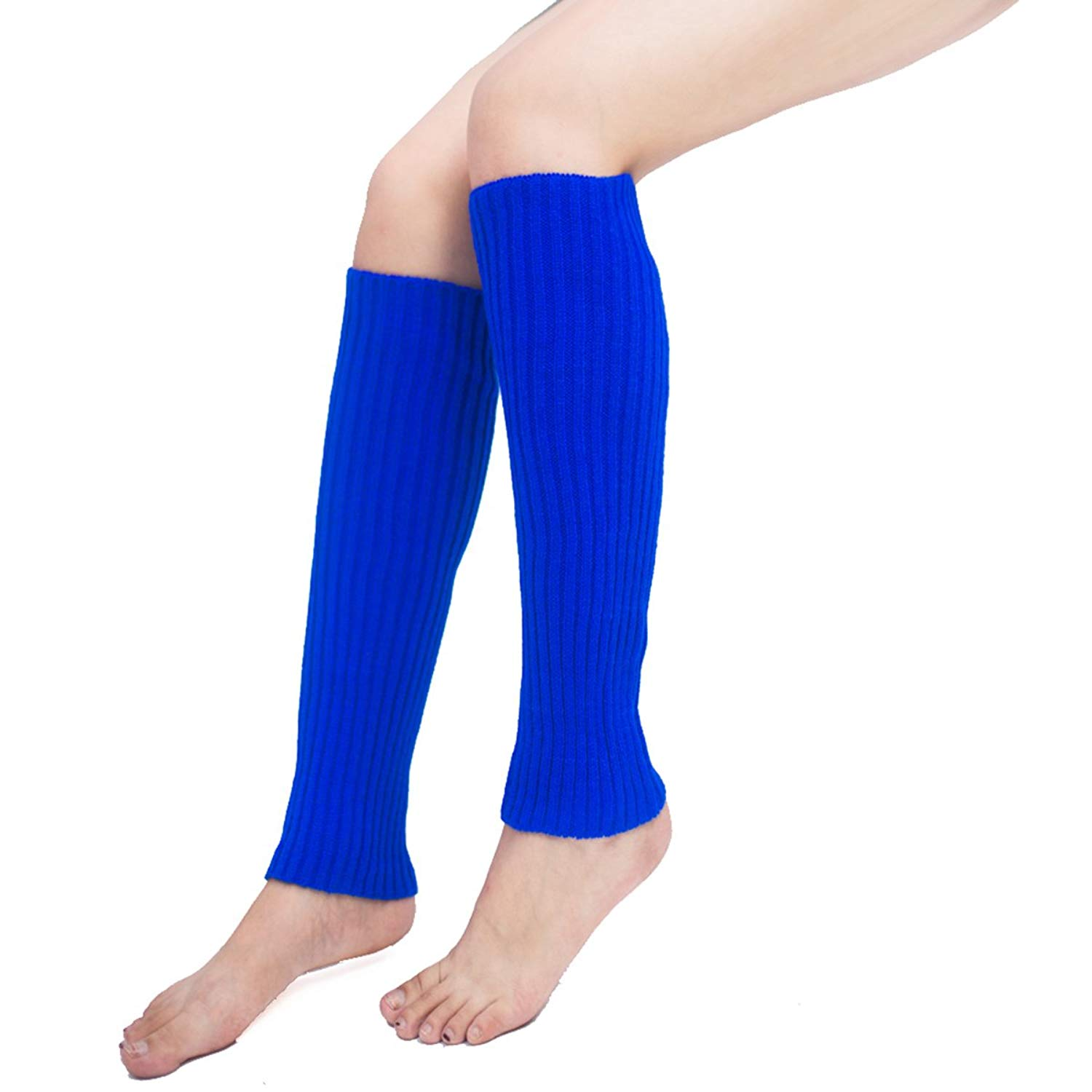782360de5e48a Get Quotations · Unisex Thigh High Stretch Knit Leg Warmers Ribbed Knit  Dance Sports Leg Warmers