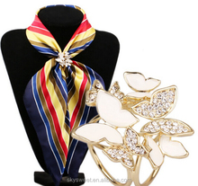 butterfly scarf clip gold scarf ring lady accessories,enamel scarf ring(PR185)