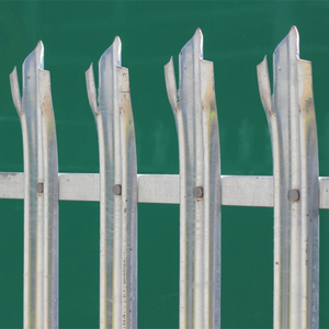 Outdoor security powder coated palisade steel fence