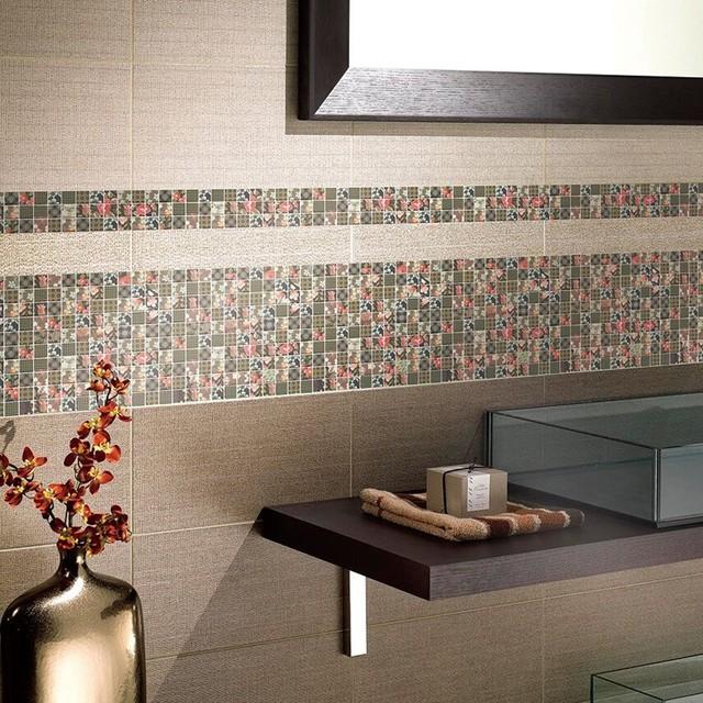 Colorful Gl Mosaic Bathroom Tile