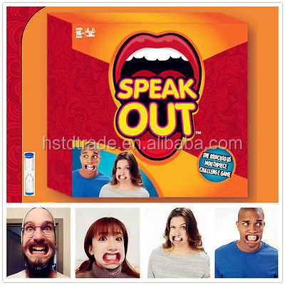 SPEAK OUT Game New! HOT ITEM!! READY TO SHIP NOW!30pcs Speak Out Boards Game Christmas Toy Game cards fast shipping by DHL