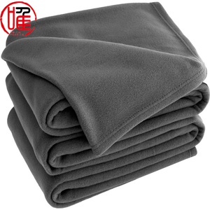 China Factory Cheap Supply Full Size Solid Color Mink Soft Polar Fleece Throw Blanket in Bulk