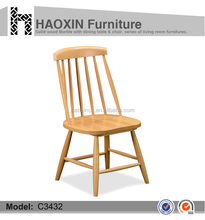 Malaysia/Europe/Australia natural color wood dining chair C3432