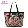 XBL Printed flower pattern totes pu leather lady bag ladies hand purse designer handbags 2017 handbag