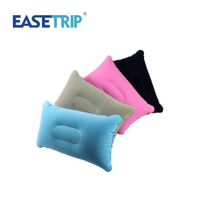 VS-TRP013 Rectangle Sleep Help Travel Flocked PVC Back Pillow