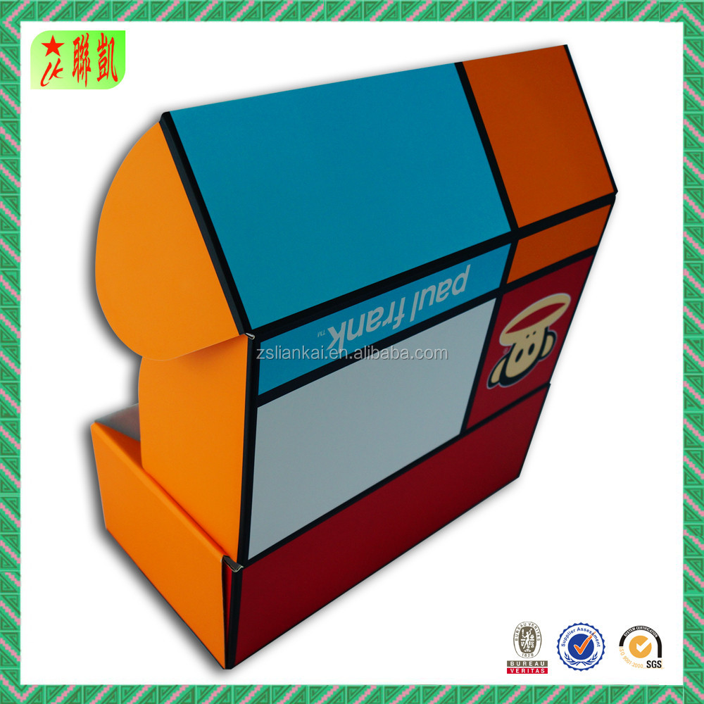 Color printed corrugated paper packaging box retail shoes box