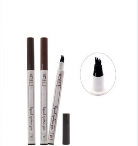 OEM Fork Tip Private Label Eyebrow Pencil Tattoo Waterproof Long Lasting Permanent Microblading Liquid Eyebrow Pen