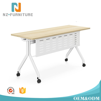 Modular White Office Design Folding Conference Table For Training