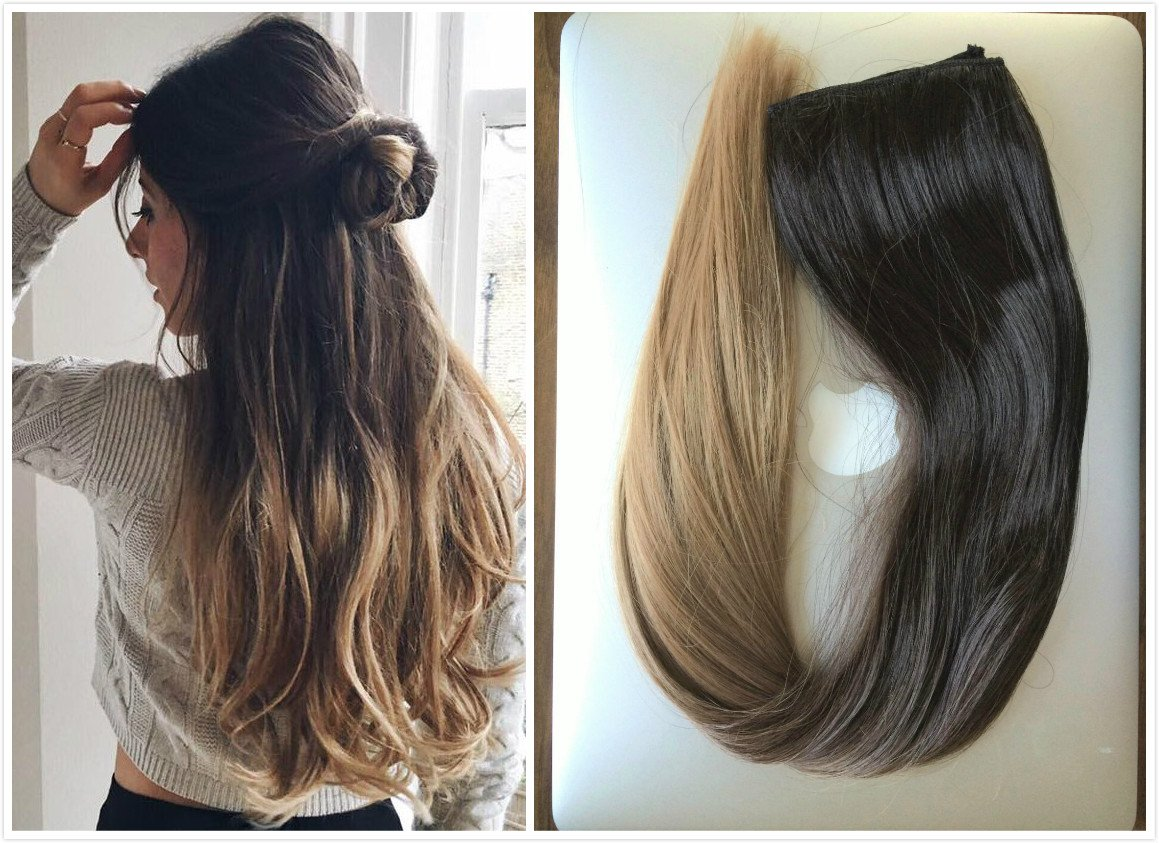 Buy Thick One Piece Ombre Clip In Hair Extensions Long Straight