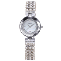 W4790 Silver Rose Gold japan movt quartz watch diamond Pearl